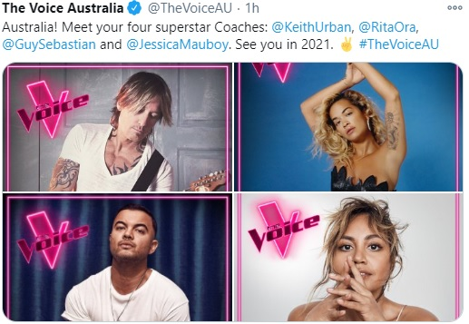 The Voice Australia 2021 Coach Lineup Changes