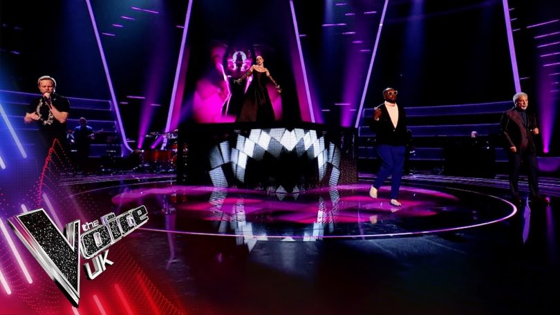 Coaches' Anne-Marie Olly Murs Tom Jones and will.i.am 'You've Got The Love' Voice UK 2021